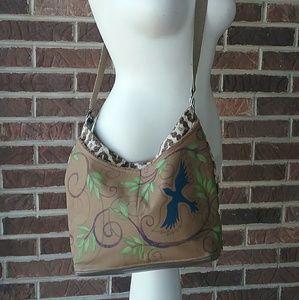 Handbags - Crossbody Boho Festival Brown Carpet Bag